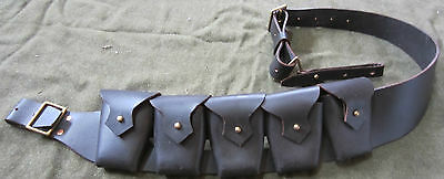 WWI BRITISH P1903 LEATHER 5 POCKET AMMO BANDOLEER BANDOLIER