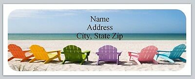 Personalized Address Labels Beach Chairs Buy 3 Get 1 Free Bo 753