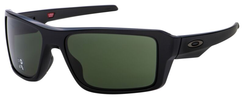 Oakley Double Edge Sunglasses OO9380-0166 Matte Black | Dark Grey Lens