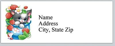 Personalized Address Labels Cute Little Cat Buy 3 Get 1 Free Bx 967