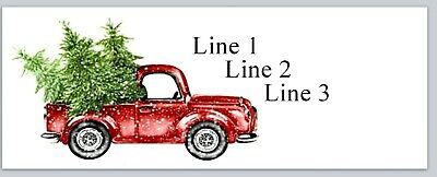 Personalized Address Labels Vintage Red Truck Christmas Buy 3 Get 1 Free Jx 38