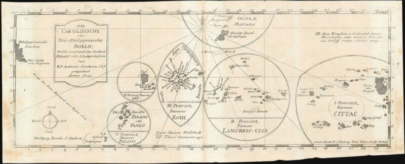 1728 Jesuit Map of the Caroline Islands