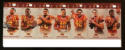 Iowa State Cyclones Game - 2018 Iowa State Cyclones Football Collectible Ticket Stub - Choose Any Home Game