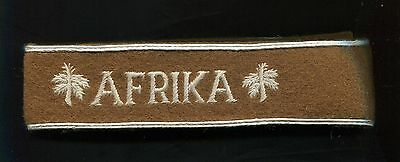 German Afrika Commemorative Cuff Title copy Enlisted