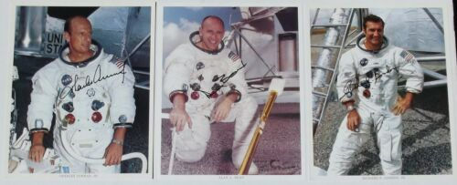 Apollo 12 Crew Signed NASA Lithograph Conard, Bean, Gordon Authenticated Zarelli