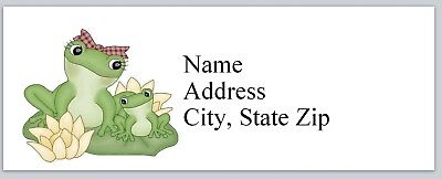 Personalized Address Labels Frog Mum & Baby Buy 3 get 1 free (P 611)