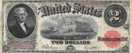 USA  $2  Series of 1917   P 188  Block  D - A  Circulated Banknote G4