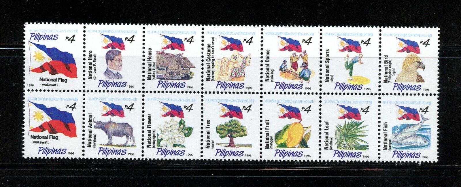 Z165 Philippines 1996 National Symbols Flags Birds Fish Flora BLOCK MNH - $9.96