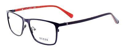 GUESS GU1889 092 Men's Eyeglasses Frames 53-16-145 Satin Blue / Red + (Red Eyeglass Frames For Men)