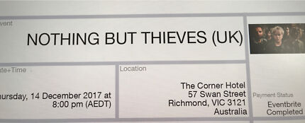 2 x Nothing but thieves tickets