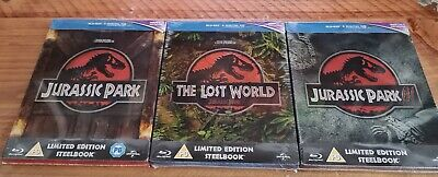 Jurassic Park Limited Edition Steelbooks Bluray 1 - 3 new sealed