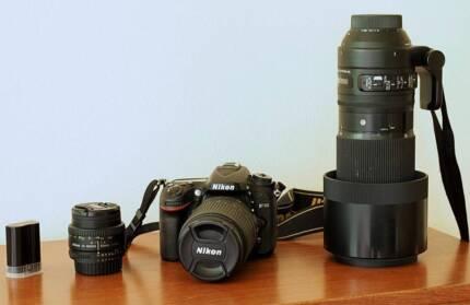 Nikon D7100 plus three lenses and extras