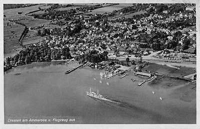 Diessen Am Ammersee Germany Aerial View Of Coast Lake Antique Postcard K15308