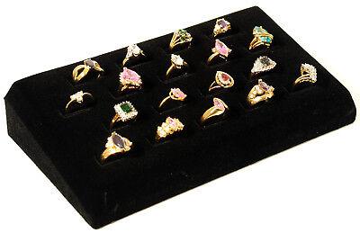 18 Ring Tray Black Velvet Jewelry Display
