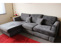 DFS Freya 4-seater Corner Sofa |Grey Fabric Corner Sofa