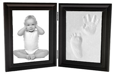 Footprint Keepsake (Proud Baby Clay Hand & Footprint Keepsake & Photo Bi-Fold Frame Kit -)