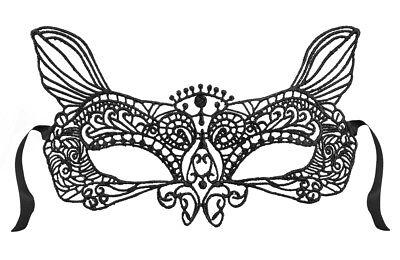 schwarze Katzen Augenmaske Spitzen Gothic Venezianisch Maske Gesicht - Spitze Katze Maske