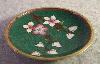 Schöner Teller Schale aus Metall Chinesisches Motiv Blüten