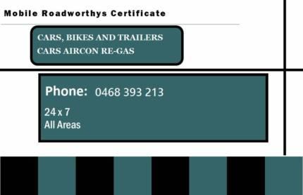 Safety Certificates - Roadworthy Certificates