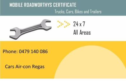 Mobile Roadworthy Certificates ( Safety Certificates)