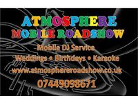 Atmosphere roadshow wedding dj partys kids partys