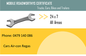 MOBILE ROADWORTHY CERTIFICATES (SAFETY CERTIFICATES) Beenleigh Logan Area Preview