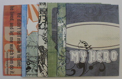 FATHER & SON - Fancy Pants Chipboard:  Journal Cards - Pictures & Quote Kit
