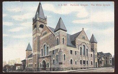 Postcard PORTLAND Oregon/OR  The White Temple Baptist Church view 1907?