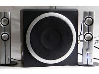 Hercules XPS 2.14 80W RMS Active Omnidirectional Subwoofer Computer Speakers