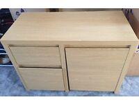 NEXT oak effect desk with hideaway stool