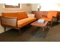 Peter Hvidt, Orla Molgaard France and Son Danish Teak Day Bed and Armchair Mid-century Classic 1960s