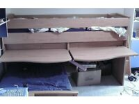 Gami Mid-sleeper Cabin Bed + Pull-out Bed; Storage Drawer
