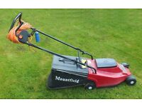 L[TTLE USED MOUNTFIELD PRINCESS 14 ELECTRIC LAWN MOWER