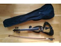 Full size 4/4 Electric Violin using Dominant Strings