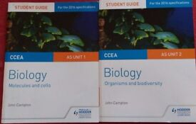 Biology Books /Student Guides for AS level CCEA