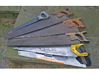 A set of new and old saws