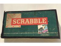 Vintage Spear's Scrabble 1955 Edition Rare Wooden Letter Racks