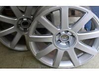 Alloys Audi size 18