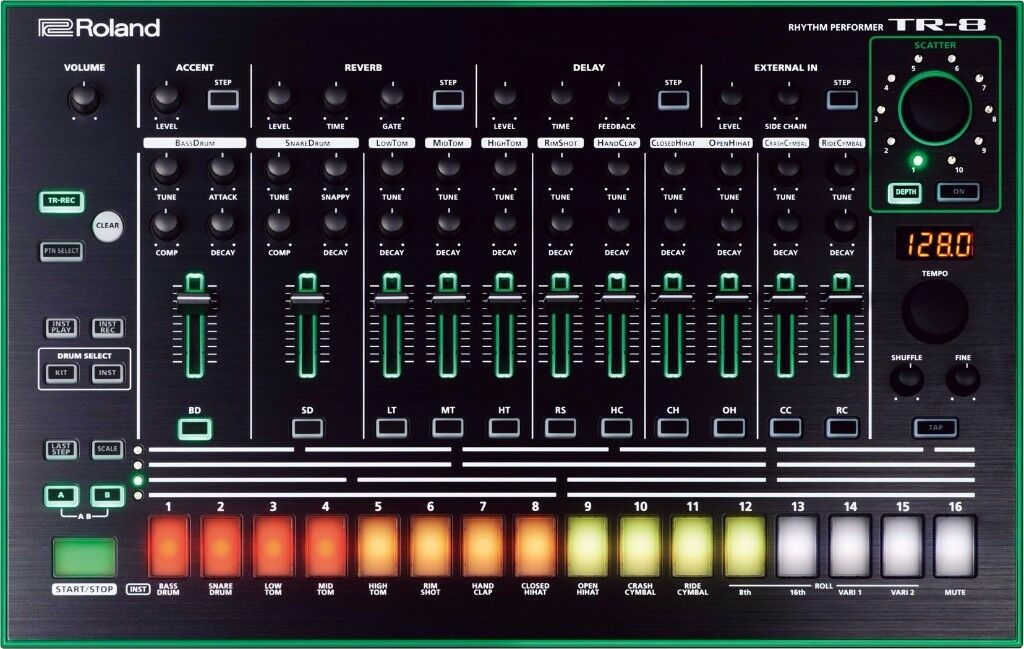 Roland TR8 TR-8 Drum Machine Sequencer 808 909 with decksaver cover