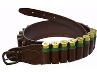 Bisley Basic Cartridge Belt 12G Brown Holds 25 Cartridges Clay's Hunting Fox