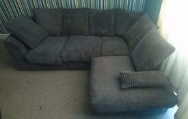 SOLD-Grey corner sofa