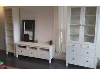 IKEA Hemnes Glass Cabinet, TV Unit and Bookshelf