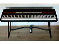 Korg SP-250 Digital Piano Keyboard with Music Rest, Stand and Pedal