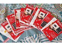 18 x SANDISK MICRO SD CARD 8GB WITH ADAPTOR SDHC SD HC