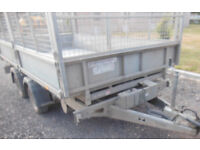 Ifor Williams TT 126 Tipper / Tipping Trailer with mesh sides + 8ft Ramps