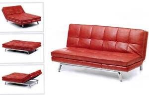 DARK RED SOFA -RED LEATHER RECLINING SOFA -RED LOVESEAT ON SALE - BRAND NEW COLLECTION (BD-1224)