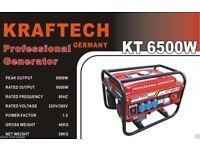 Kraftech 6500 W petrol generator brand new in box.