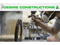 Spray painting company-french polishing, high gloss, metal, PVC, restoration services and more