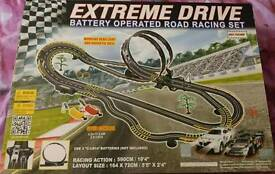 Brand new in box Scalextric style racing car track toy