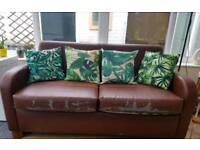 Vintage style leather sofas